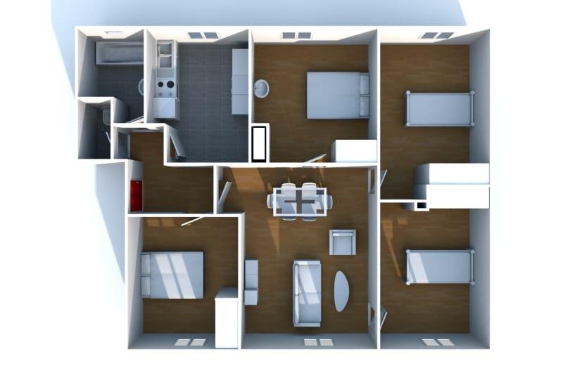 Appartement F5 en location à Fécamp dans une résidence réhabilitée - Image 3