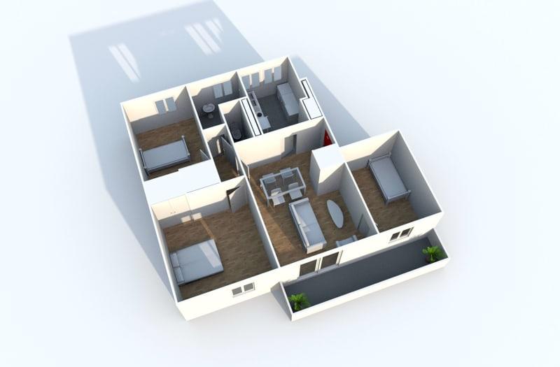 Appartement F4 à louer proche du centre-ville à Grand-Couronne - Image 9