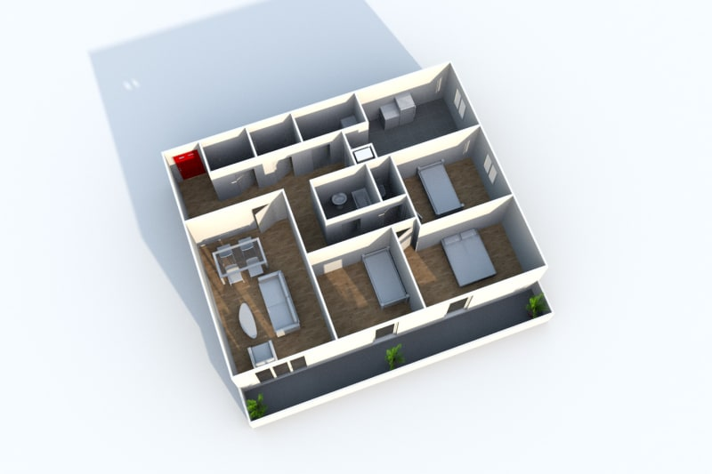 Appartement T4 en location à Grand-Couronne - Image 3