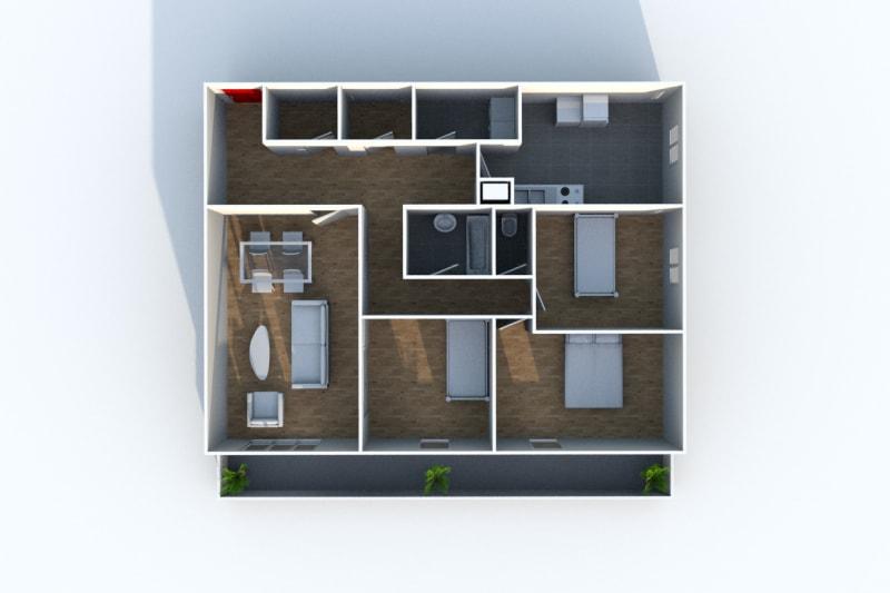 Appartement T4 en location à Grand-Couronne - Image 4