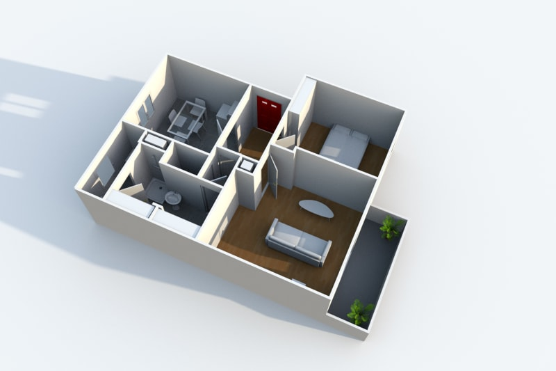 Appartement F2 au Havre proche de la clinique des Ormeaux - Image 3