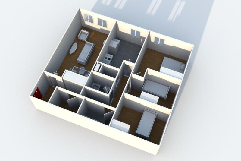 Appartement F4 situé au Havre sur les hauts de Bleville - Image 4
