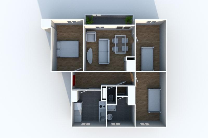Appartement T4 en location au Houlme - Image 9