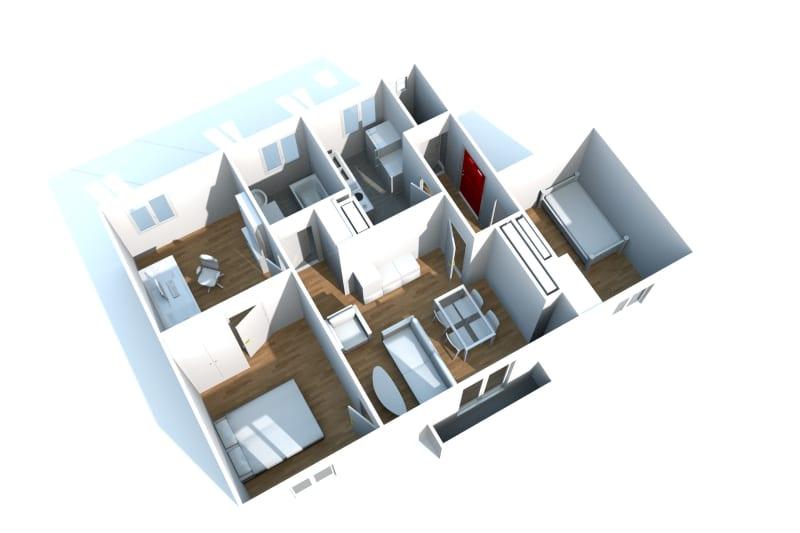 4 pièces, plein centre de Lillebonne - Image 3