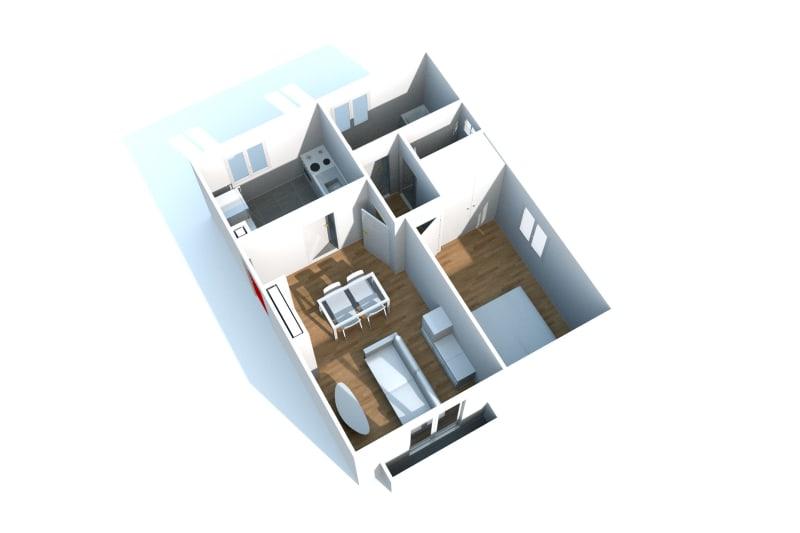 2 pièces, plein centre de Lillebonne - Image 3