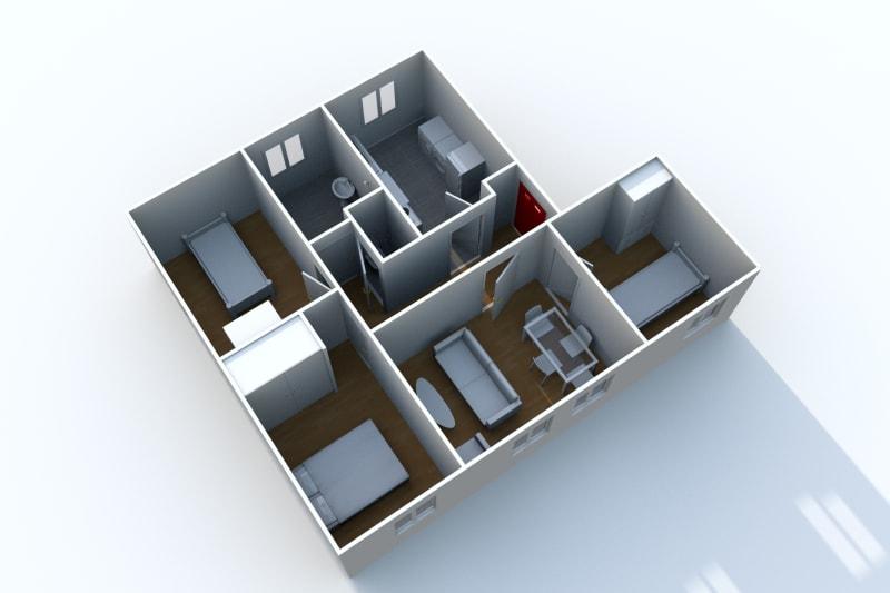 Appartement T4 à louer à Arelaune en Seine - Image 3