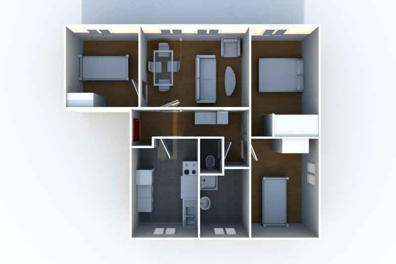 Appartement T4 à louer à Arelaune en Seine - Image 4