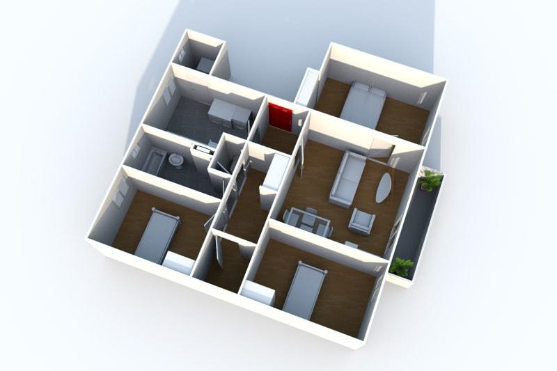 Location appartement T4 à Arelaune en Seine - Image 5