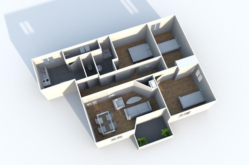 Appartement T4 à louer à Maromme, proche du stade - Image 3
