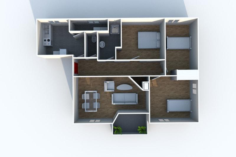 Appartement T4 à louer à Maromme, proche du stade - Image 4