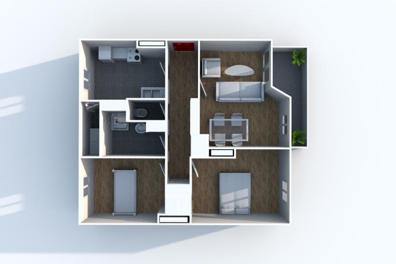 Appartement T3 à louer à Maromme, proche du stade - Image 4