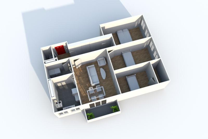 Appartement T4 à louer à Maromme avec vue - Image 8