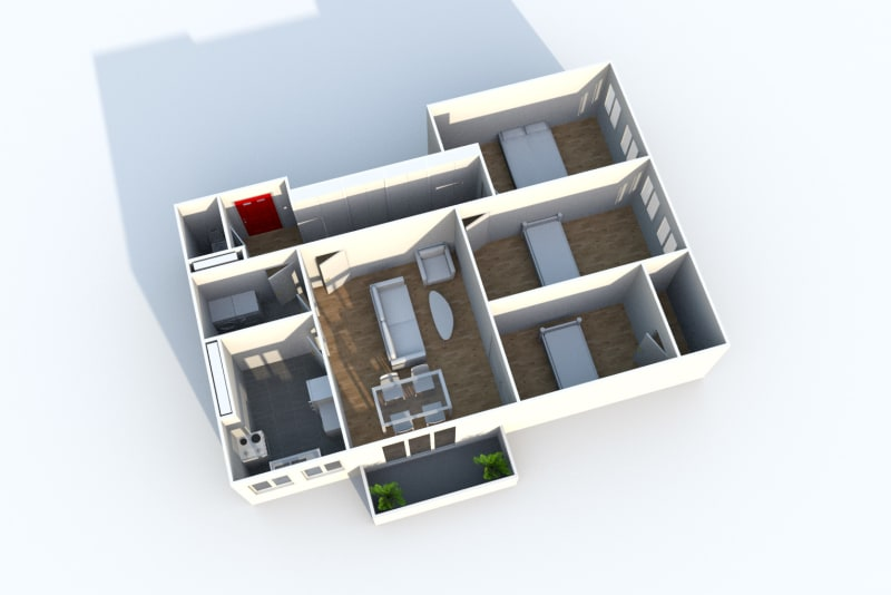 Appartement T4 à louer à Maromme proche du centre-ville - Image 8