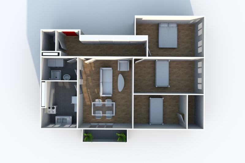 Appartement T4 à louer à Maromme proche du centre-ville - Image 9