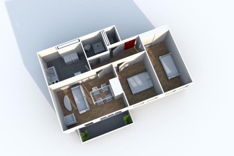 Appartement T3 en location à Maromme avec vue - Image 8