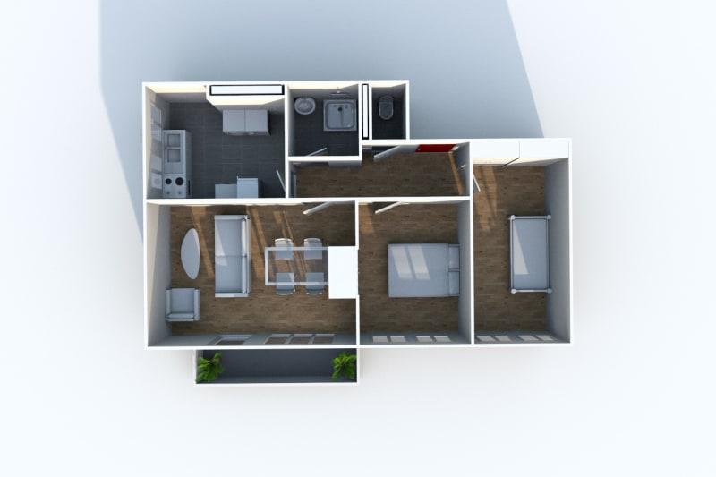 Appartement T3 en location à Maromme avec vue - Image 9