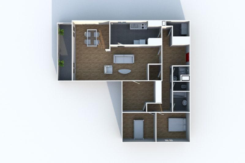 Appartement lumineux dans un cadre verdoyant à Mont-St-Aignan - Image 3
