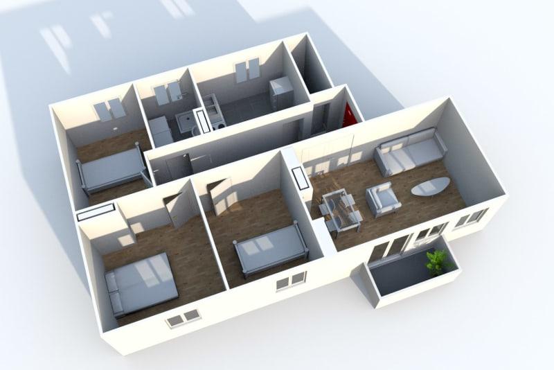 Appartement T4 à louer proche du Stade Robert Diochon à Petit-Quevilly - Image 4