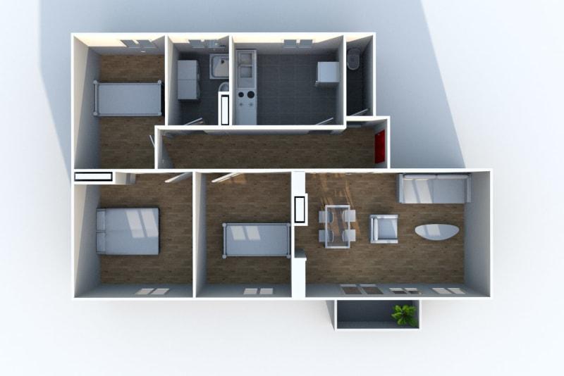 Appartement T4 à louer proche du Stade Robert Diochon à Petit-Quevilly - Image 5