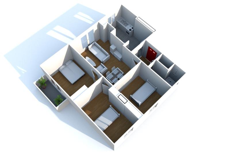 Appartement T4 en location à Saint-Valéry-en-Caux, vue sur les côtes - Image 6