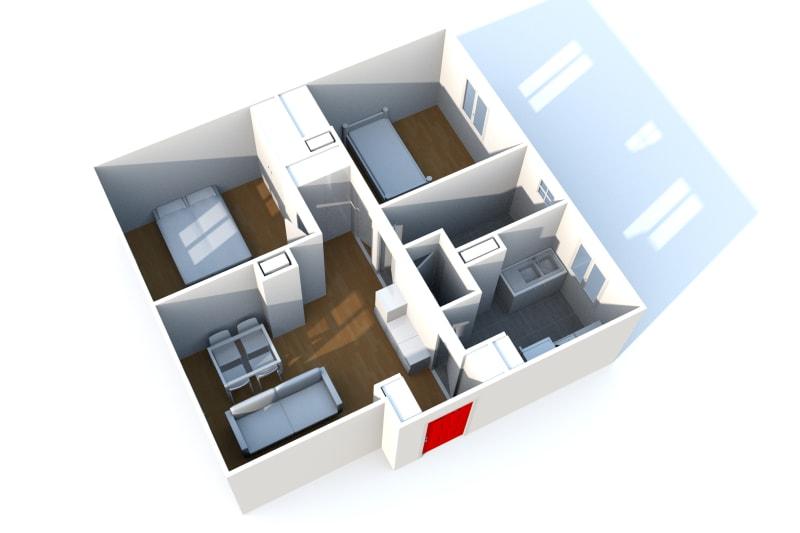 Appartement T3 à louer à Saint-Valéry-en-Caux avec vue sur port - Image 4