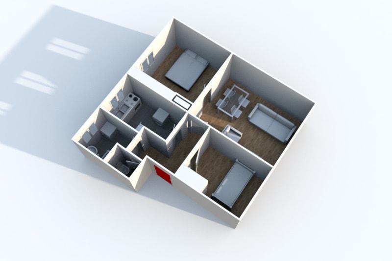 Appartement F3 proche du stade Jean Adret à Sotteville-lès-Rouen - Image 3