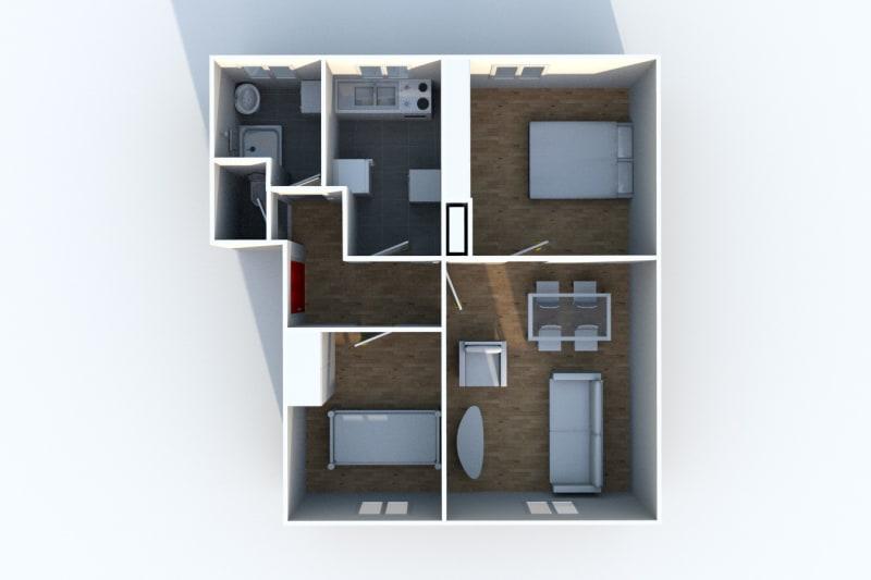 Appartement F3 proche du stade Jean Adret à Sotteville-lès-Rouen - Image 4