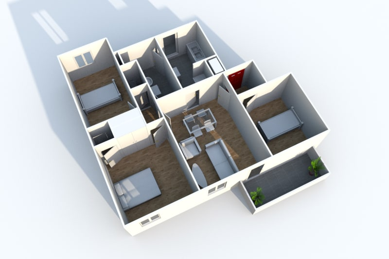 Appartement T4 en location à Sotteville-Lès-Rouen dans le quartier des Bruyères - Image 7