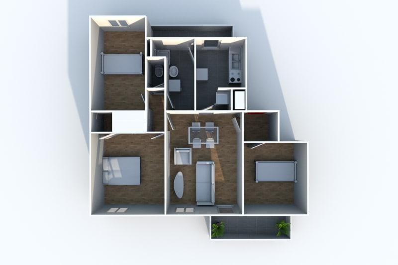 Appartement T4 en location à Sotteville-Lès-Rouen dans le quartier des Bruyères - Image 8
