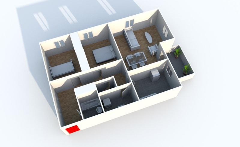 Appartement T3 dans une résidence proche du parc du Madrillet à Sotteville-lès-Rouen - Image 5