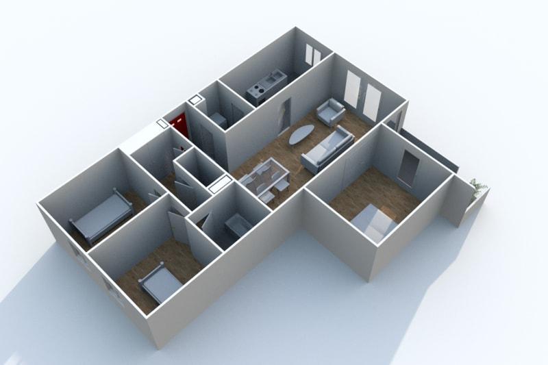 Appartement F4 à louer dans le centre-ville d'Harfleur - Image 3