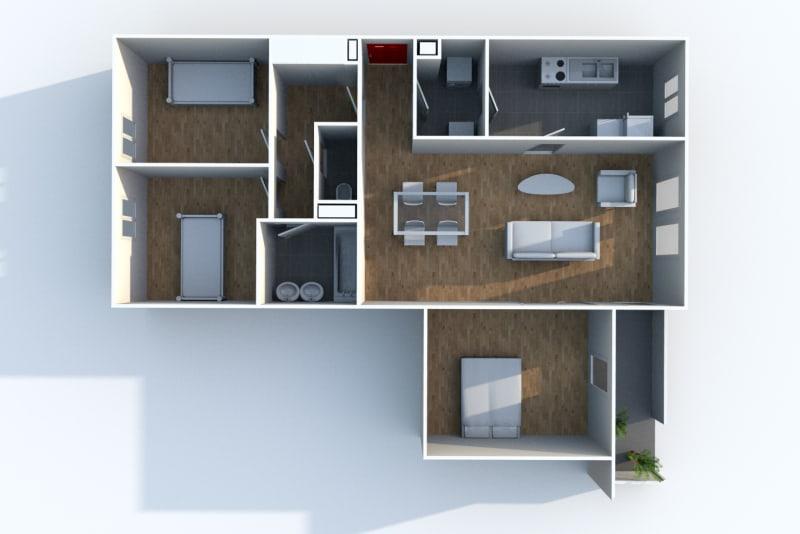 Appartement F4 à louer dans le centre-ville d'Harfleur - Image 4