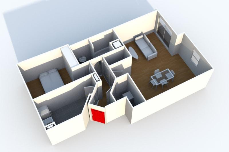 Appartement de 2 pièces proche de St-Sever à Rouen - Image 3