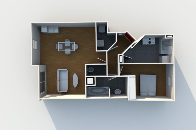 Appartement de 2 pièces proche de St-Sever à Rouen - Image 4