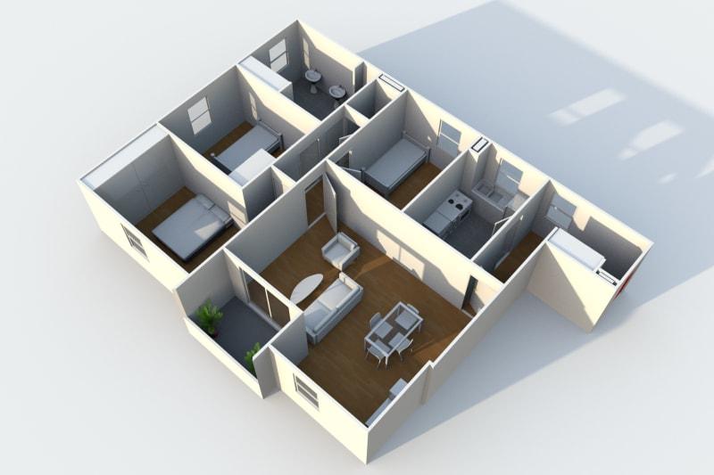 Appartement de 4 pièces proche de St-Sever à Rouen - Image 3