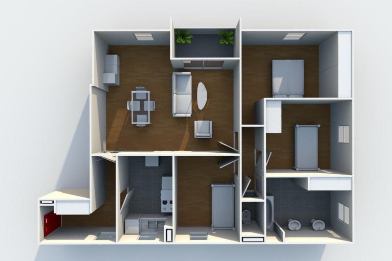 Appartement T4 à louer à Rouen Rive Gauche - Image 4