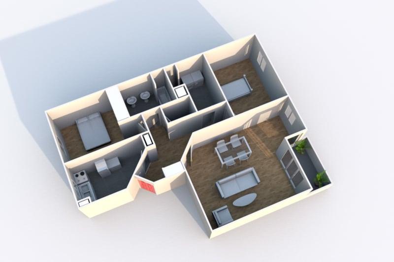 Appartement F3 en location à Rouen Rive Gauche - Image 3