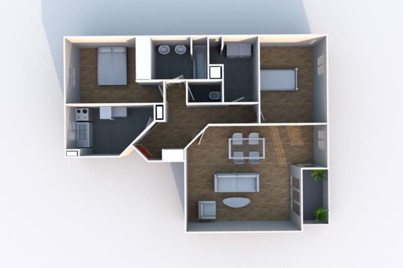 Appartement F3 en location à Rouen Rive Gauche - Image 4