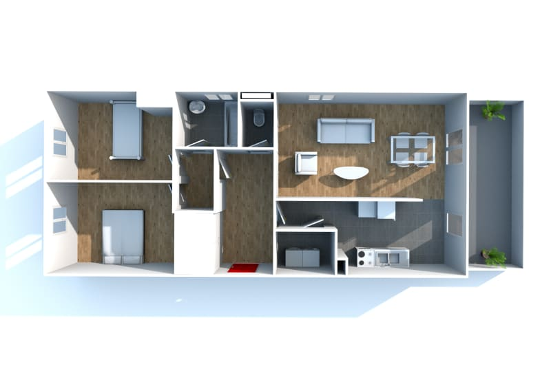Gonfreville l'orcher, 3 pièces dans résidence récente - Image 4