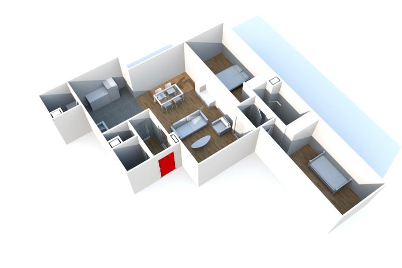 F3 à Rouen Rive-Gauche dans une résidence moderne - Image 4