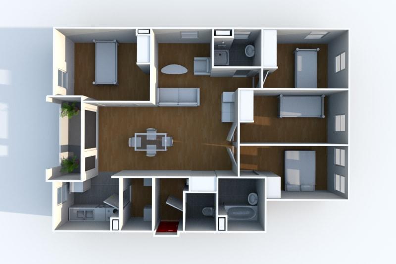 Appartement F5 en location à Rouen Rive Gauche - Image 4
