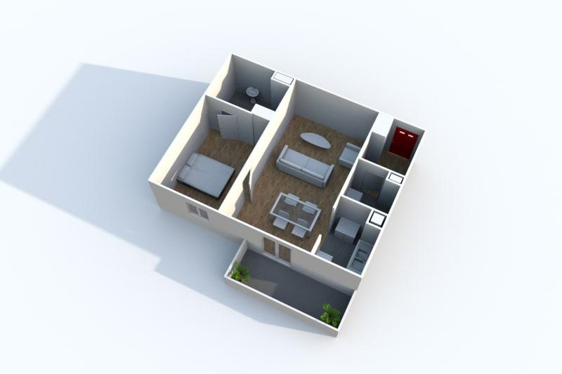 Appartement T2 à Rouen Rive Gauche proche Saint Sever - Image 3