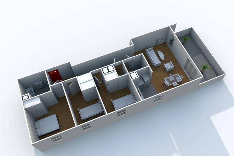 Appartement T4 à louer à Rouen Rive Droite proche de la préfecture - Image 4