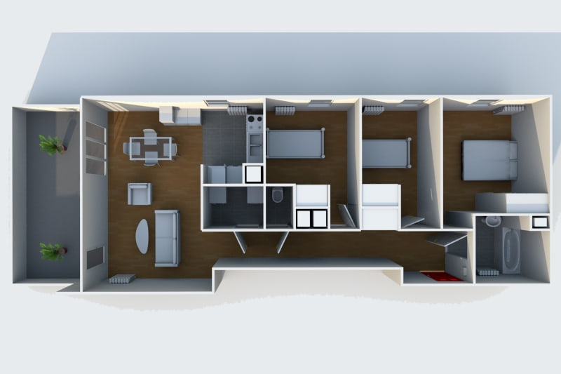 Appartement T4 à louer à Rouen Rive Droite proche de la préfecture - Image 5