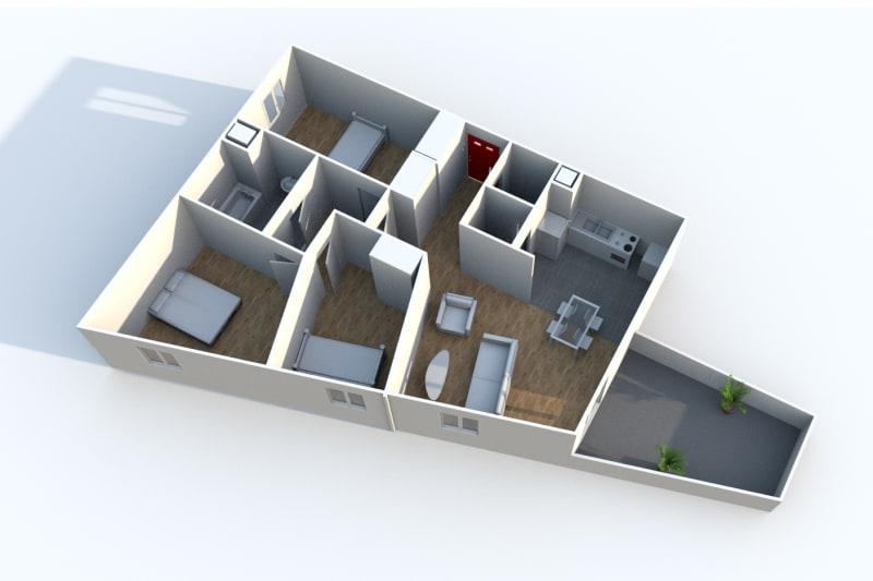 Appartement T4 en location à Isneauville, proche des Halles - Image 4