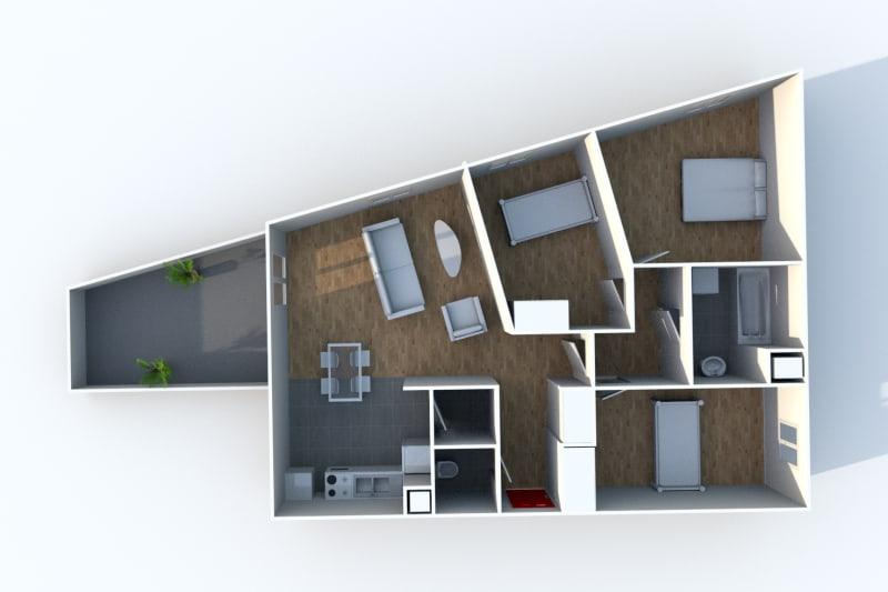 Appartement T4 en location à Isneauville, proche des Halles - Image 5