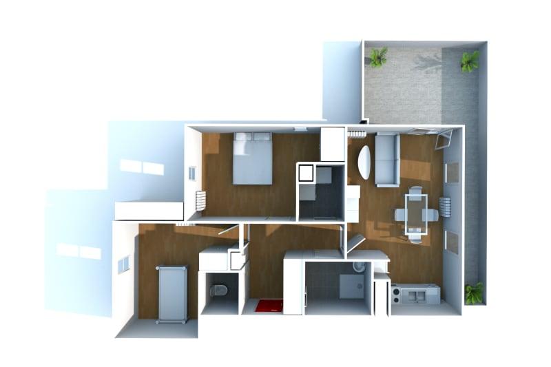 Appartement F3 à louer à Isneauville, proche des Halles - Image 5