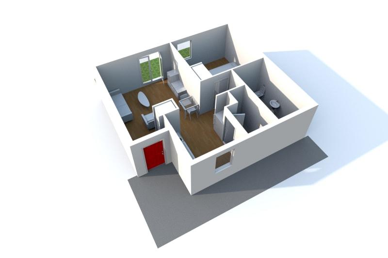 Pavillon neuf pour séniors T2 en location à Sassetot le Mauconduit - Image 4