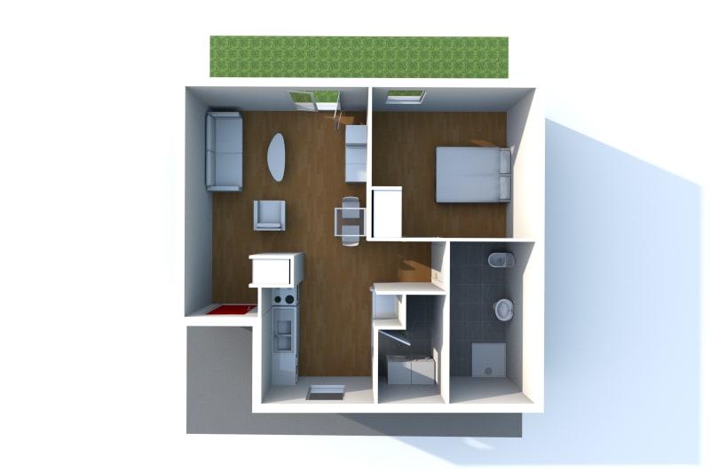 Pavillon neuf pour séniors T2 en location à Sassetot le Mauconduit - Image 5