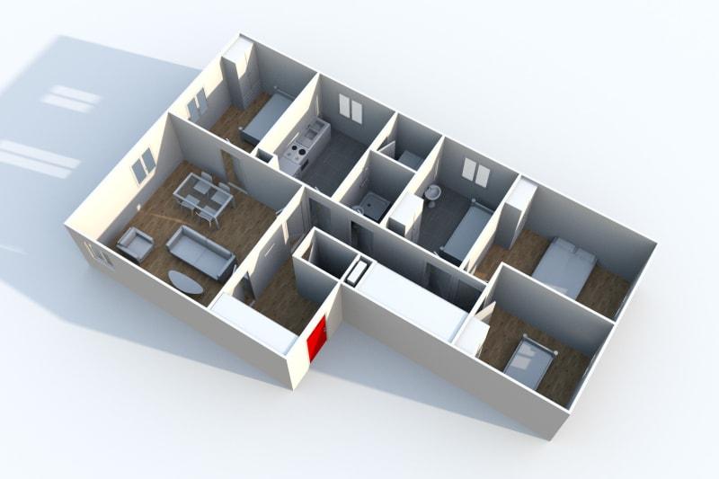 Appartement T5 en location à Auffay, proche du centre-ville - Image 4